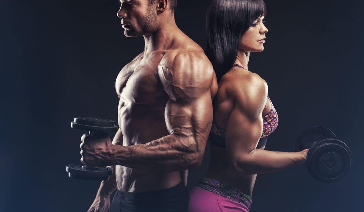 male female bodybuilders shredded