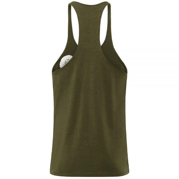 Longline Bodybuilding Stringer - Olive