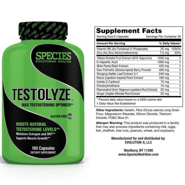 Species Nutrition Testolyze™™ Testosterone Booster