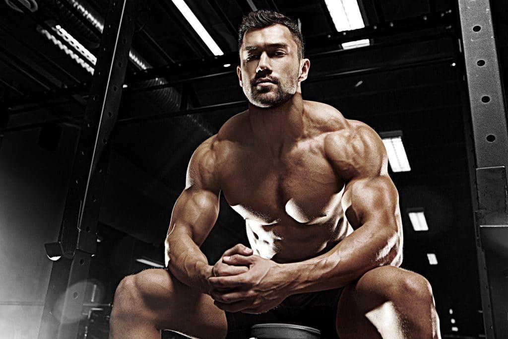bodybuilder shredded muscle