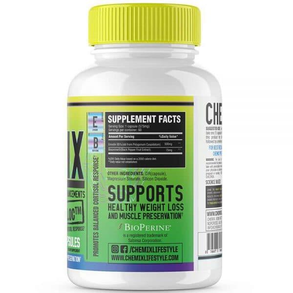chemix supplements cortibloc cortisol blocker back