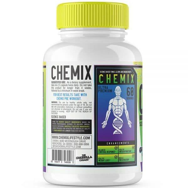 chemix supplements cortibloc cortisol blocker side