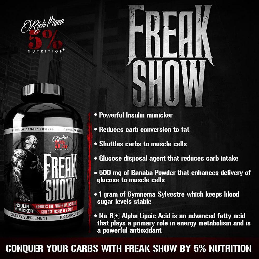 Buy Freak Show Insulin Mimicker | Rich Piana 5% Nutrition
