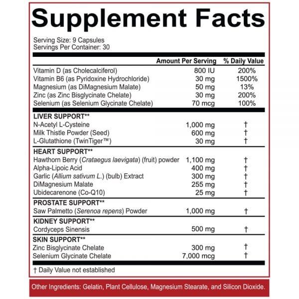 rich piana 5 percent nutrition liver organ defender nutritional