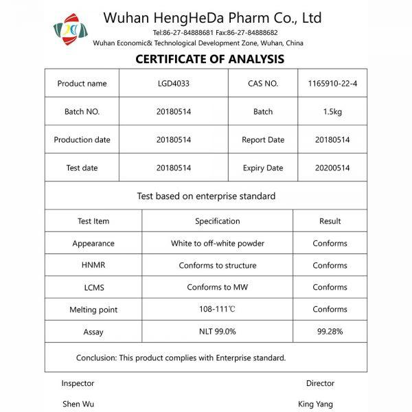 research pharma uk sarms coa LGD4033