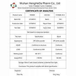 research pharma uk sarms coa SR9009