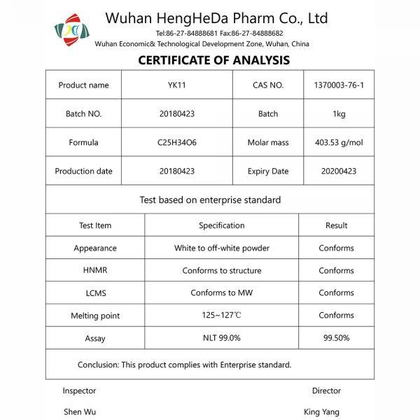 research pharma uk sarms coa YK11