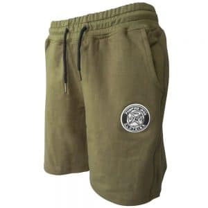 pumping iron bodybuilding shorts khaki front