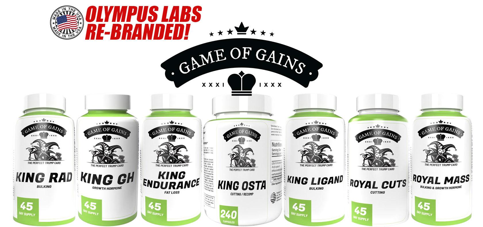 homepage main slider game of gains olympus labs rebranded