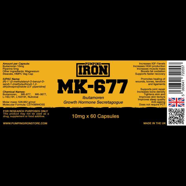 Pumping Iron Ibutamoren (MK-677) 10mg x 60 Capsules