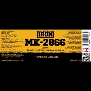 Pumping Iron Ostarine (MK-2866) 10mg x 60 Capsules