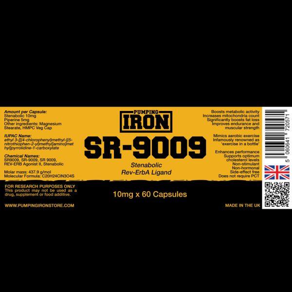 Pumping Iron Stenabolic (SR-9009) 10mg x 60 Capsules