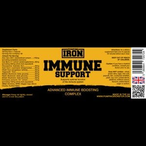 Pumping Iron Immune Support Complex - Nutritional Label