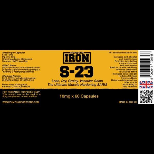 Pumping Iron S-23 - 10mg x 60