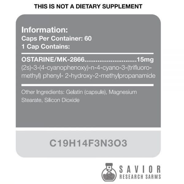 Savior Research Ostarine Label