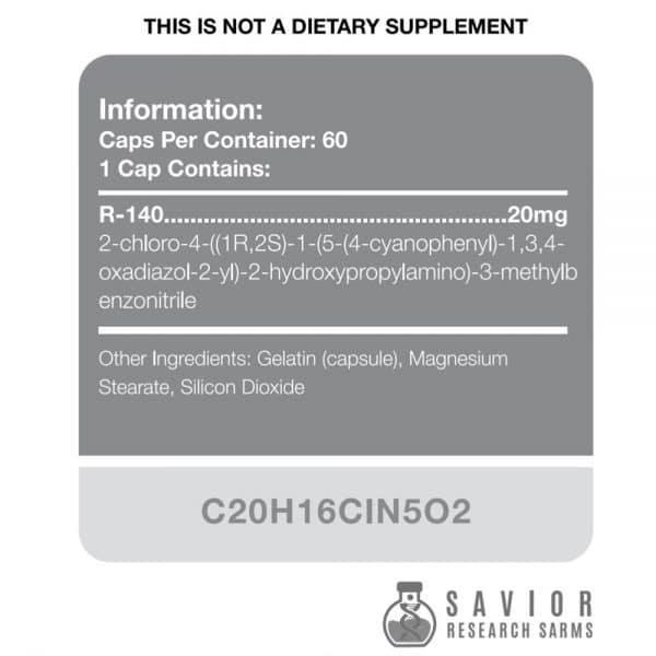 Savior Research RAD-140 (Testolone) Label
