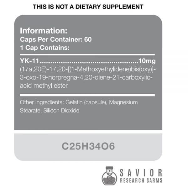 Savior Research YK-11 - Label