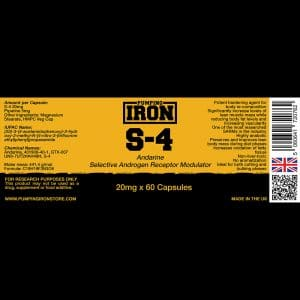 Pumping Iron S-4 (Andarine) 20mg x 60