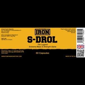 Pumping Iron S-DROL - 10mg x 60 Capsules