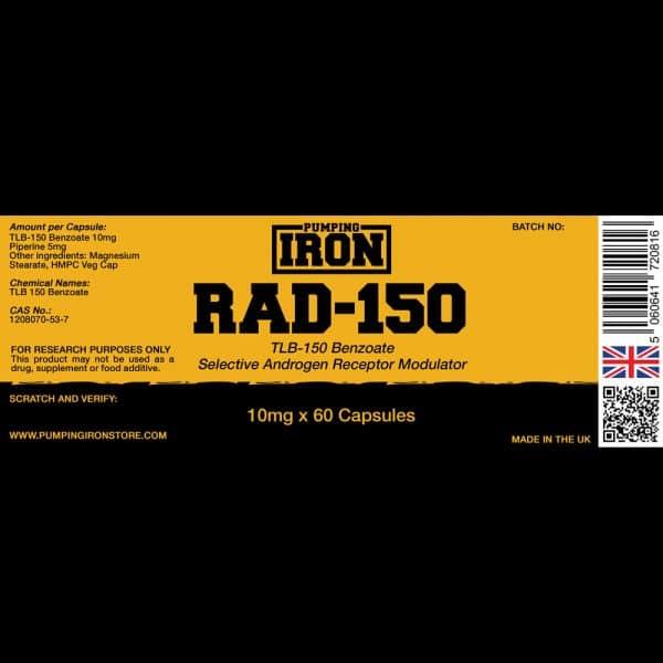 Pumping Iron RAD-150 - 10mg x 60 Capsules