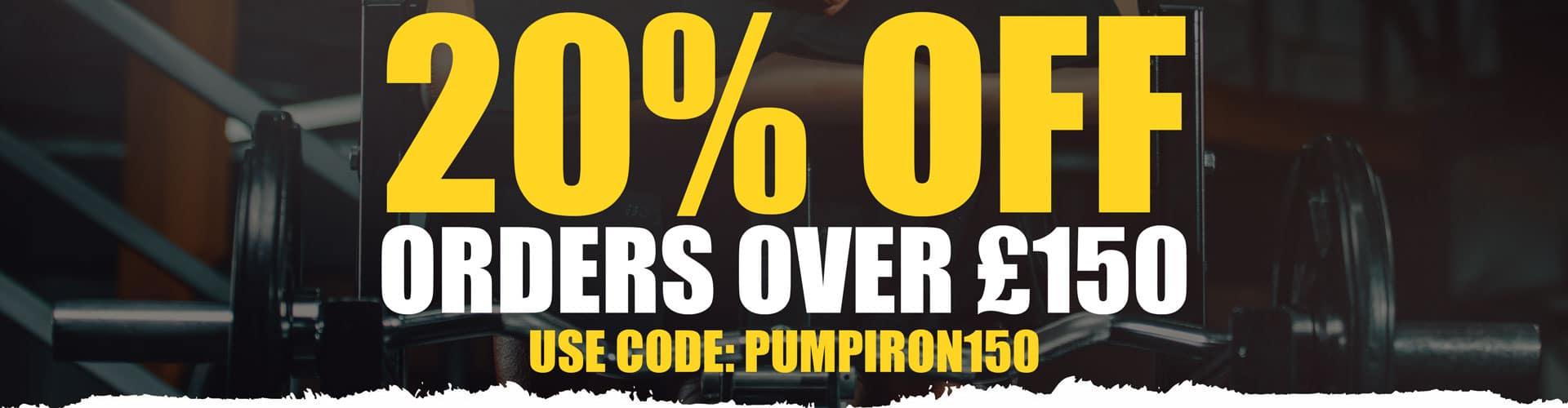 Pumping Iron Discount Code 150